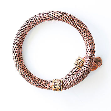 Alex and Ani Gift of Wisdom Wrap Rafaelian Rose Gold