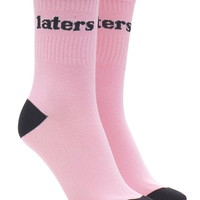 Laters Graphic Crew Socks | Forever 21 - 2000202384