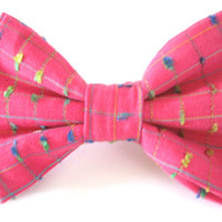 Pink Dog Bow Tie Small Medium Large Removable Bowtie