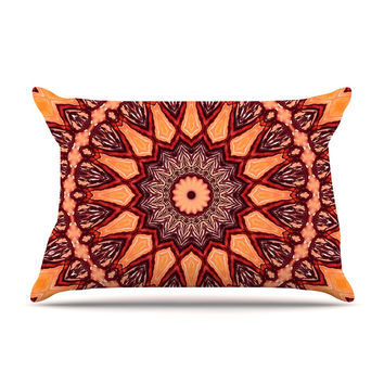 "Iris Lehnhardt ""Colors of Africa"" Brown Orange Pillow Case"