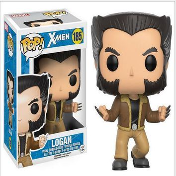 Funko pop X 3 film version of X-Men Wolverine Rogan ornaments set 185# model