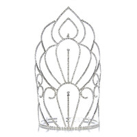 Pageant Crown: Ultimate Grand Supreme Tiara - 11 inches