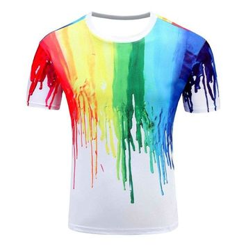 Colorful 3D Printed High Quality Tees #rainbow