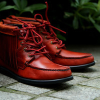 Sebago Tomahawk Red | 7 Shoes | Ronnie Fieg x Sebago