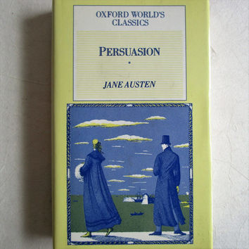 Vintage 80s Hardcover Pocket Books Oxford Classics 1980s Jane Austen Persuasion 1987