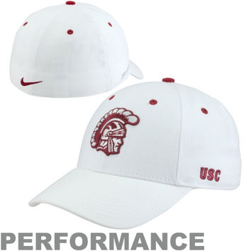 Nike USC Trojans Fan Legacy 91 Swoosh Flex Performance Hat - White