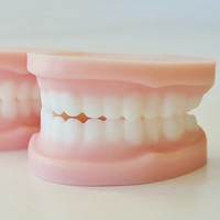 SOAP DENTURES - Over the Hill party favors, false teeth, dental, gag gift, novelty soap