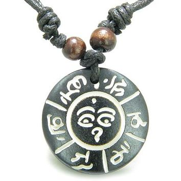 Amulet Tibetan Mantra Om Mani Padme Hum Buddha All Seeing Eye Magic Magic Pendant Necklace