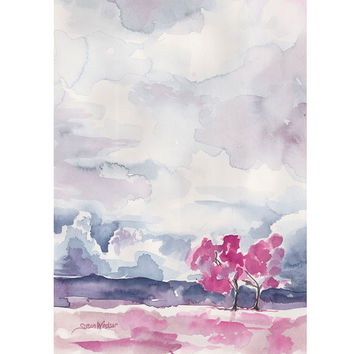 Abstract Landscape Pink