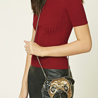 Sequin Pug Crossbody