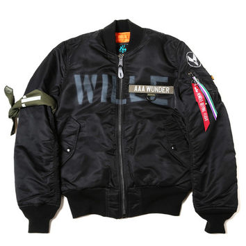 "Radio Eva x Alpha MA-1 ""Kamikaze Custom"" WILLE Edition Flight Jacket"