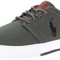 Polo Ralph Lauren Men's Faxon Low Sneaker,Deep Grey/Polo Black,14 D US