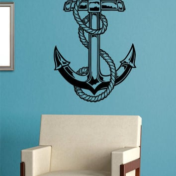 Anchor Version 4 Nautical Ocean Beach Decal Sticker Wall Vinyl Art Decor