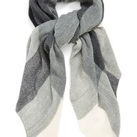 Junior Women's BP. Plaid Scarf - Grey (Online Only)