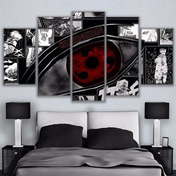 Anime Print Naruto Sharingan Naruto Wall Panel Picture Print Canvas