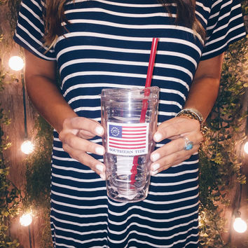 Southern Tide American Flag Tumbler- FINAL SALE