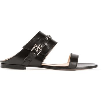 Gianvito Rossi Flat Buckled Sandals