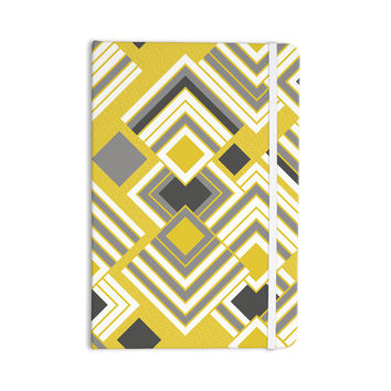 "Jacqueline Milton ""Luca - Gold"" Yellow Gray Everything Notebook"