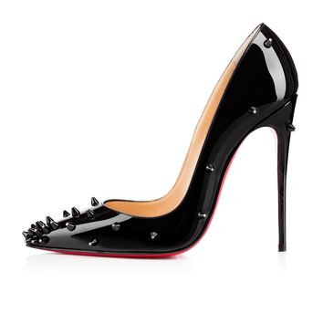 Diamond Spike 120mm Black Patent Leather