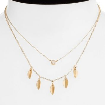 Danielle Nicole Momji Layered Choker Necklace | Nordstrom