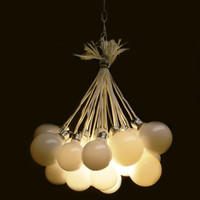 Multi Bulb Hanging Light Fixture  Globes by JesseLeeDesigns