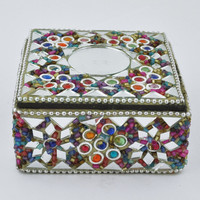 Mirrored Confetti Seed Bead Stash Box