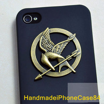 The Hunger Games Mockingjay Logo Black iPhone 4/4S case, Apple iPhone 4 Case, iPhone 4s Case, iPhone 4 Hard Case