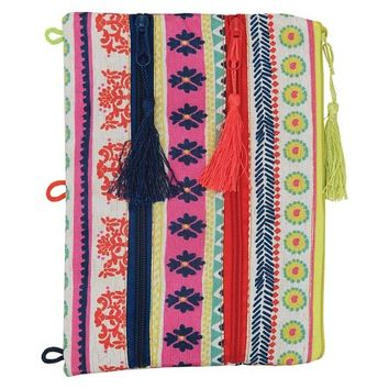 Xhilaration Three Zipper Pencil Pouch - Tribal: Target