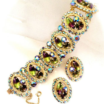 Exquisite Vintage Rhinestone and Art Glass Demi