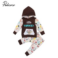 Cute baby clothes Thanksgiving Infant Baby Boys Girls Outfits Hoodie T shirt Top Pants Leggings festival baby clothes baby gift