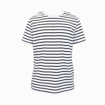 Steven Stripe T-Shirt (White & Black)