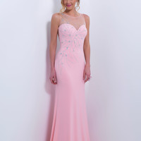 Black by Blush C163 - Blush Slim Fit Sheer Back Prom Dresses Online