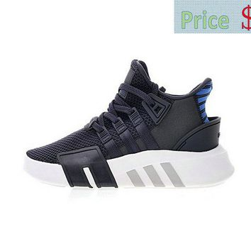 Really Cheap Mens Adidas EQT Basketball ADV Dark Grey Blue White Knit Athletic Shoes CQ2994 sneaker