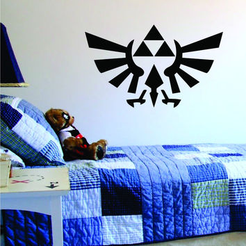 Triforce Zelda Logo Gamer Design Game Decal Sticker Wall Vinyl Decor Art Home