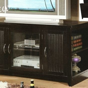Redfield espresso finish wood folding tv media stand console