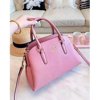 Coach fashion selling casual single-shoulder bag plain color for women