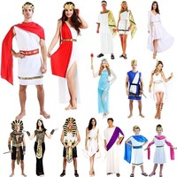 2017 Adults Children Ancient Greece Egypt Pharaoh Cosplay Costume Family Party Performance Clothing Halloween Fancy Dress Decor