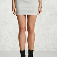 French Terry Lace-Up Mini Skirt