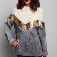 Urban Outfitters - Rag Union x Urban Renewal Ombre Foiled Fisherman Sweater