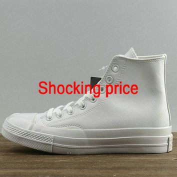 new style Unisex Converse Chuck Taylor All Star 1970s High All White 155453 newest sneaker