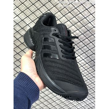 DCCK2 A645 Adidas Barricade Boost 2018 Buffer anti-skid tennis shoes All Black