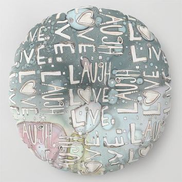'Laugh. Love. Livel' Floor / Meditation Cushion