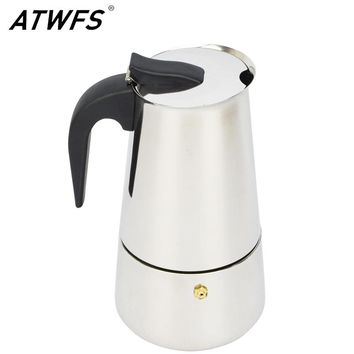 ATWFS Newest 2/4/6/9 Cups Moka Pot Caffe Machine Espresso Cups Coffee Makers Latte Percolator Stove Top Moka Coffee Maker