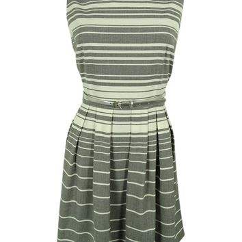 Calvin Klein Women's Striped Pleated Dress