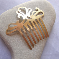 Handcrafted Brass Hair Comb