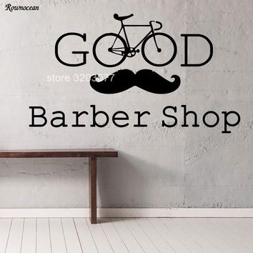 Barber Shop Wall Decals Hipster Barbershop Vinyl Sticker Beauty Salon For Men Decor Stranger Thing BA07