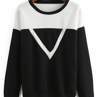 Color-block Inverted Triangle Sweatshirt