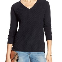 Banana Republic Womens Factory Hi Lo Colorblock Vee Pullover