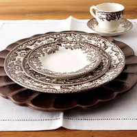 "Spode - ""Delamere"" Dinnerware & Wood Charger Plate - Horchow"