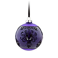 The Haunted Mansion Glass Ball Ornament - Purple